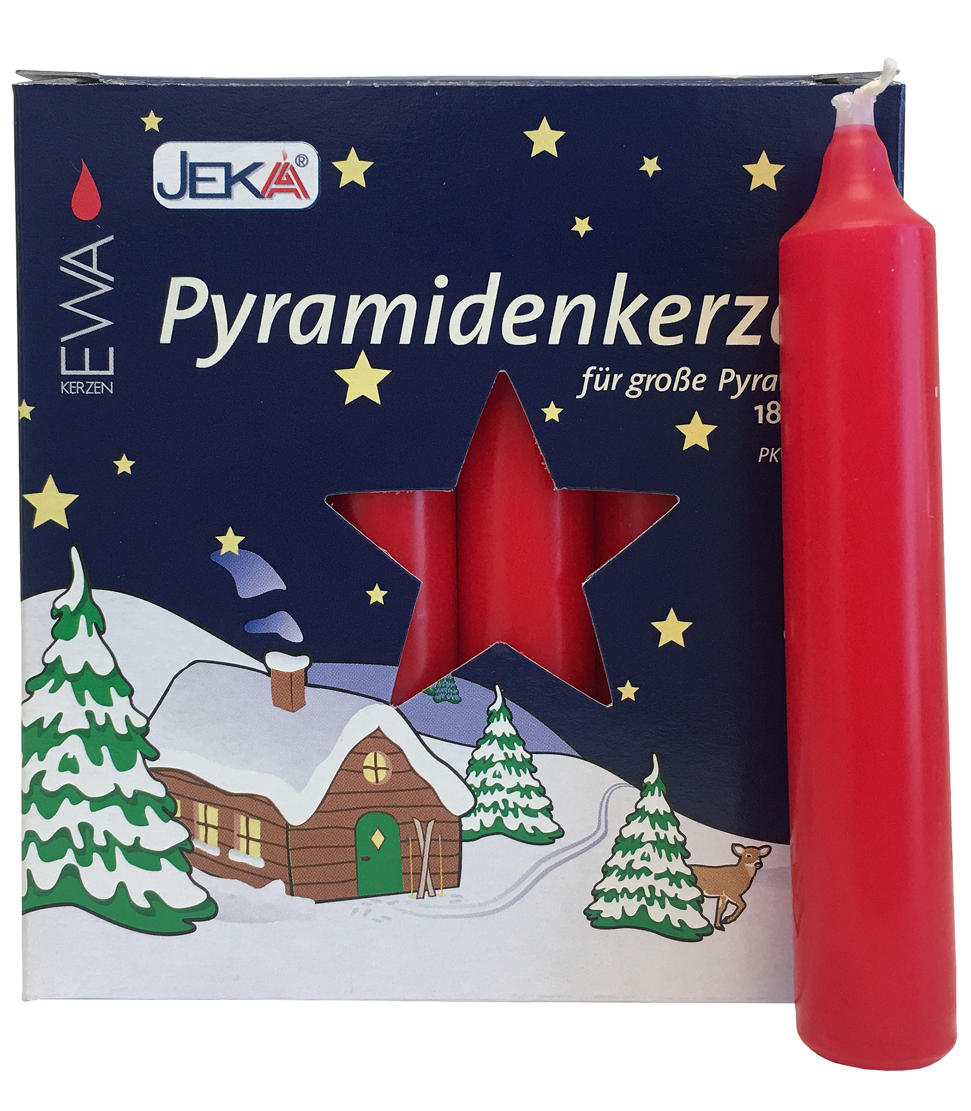 29318 German Candle for Pyramids - Large Red 17mm