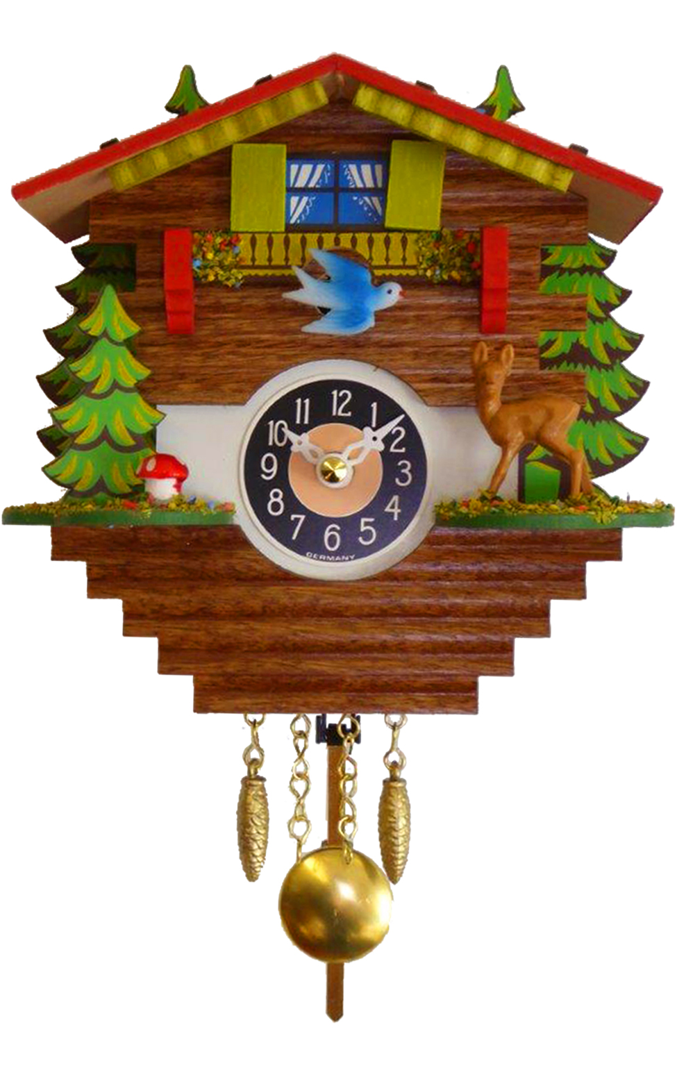 196QP Mini Chalet Novelty Cuckoo with Music/Chimes