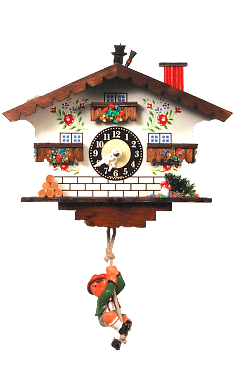 18320SQ Chimney Sweep Chalet Mini Novelty Cuckoo