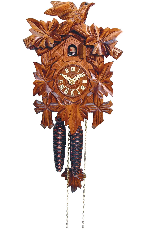 522-1 1-Day 5 Leaf Bird Style Cuckoo Clock