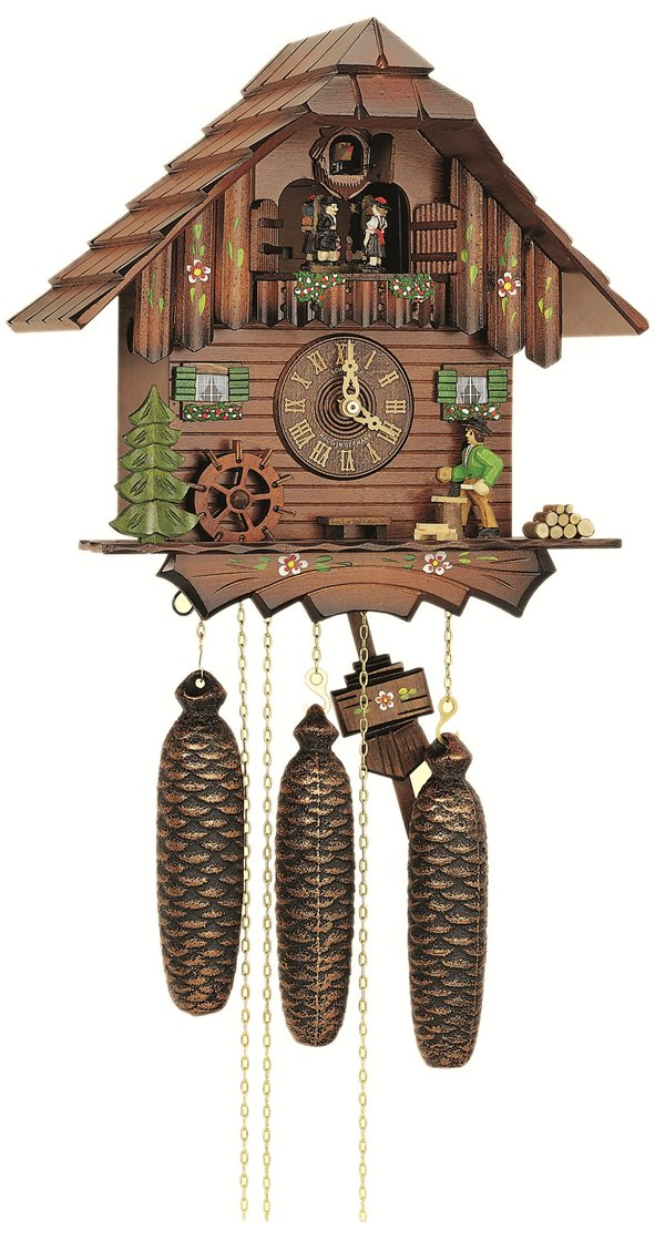 8tmt5405-10 Black forest house with Wood Chopper