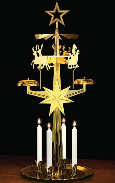 9012b Swedish design Brass Santas Sleigh Christmas Chime