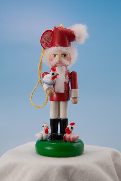 s5000c 12 Days of Christmas Three French Hens -- Mini Nutcracker Ornament