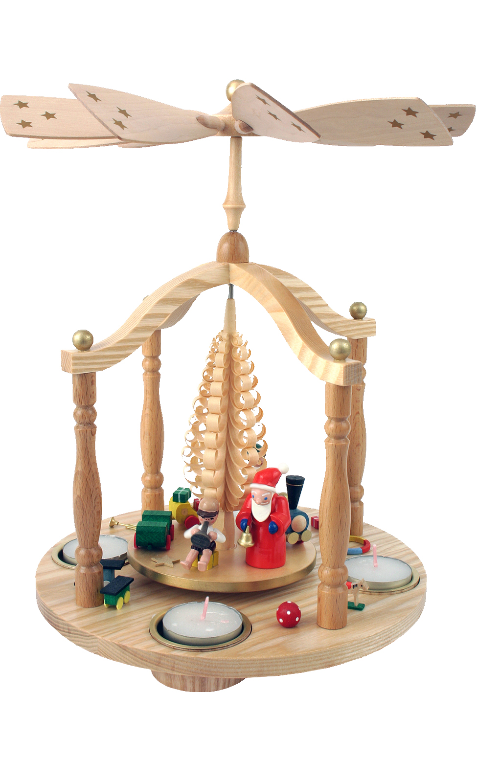 15853 Santa with Children Pyramid