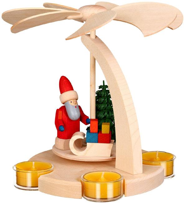 16251 Santa Tea Light Pyramid