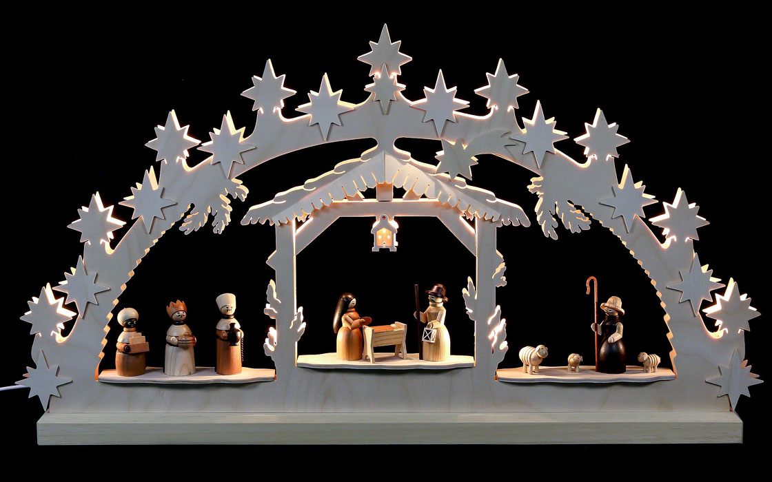 270-1 Nativity 10 Figures Light Arch