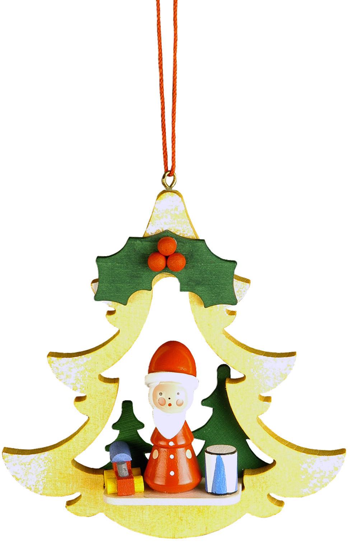 10-0462 Santa in Yellow Tree