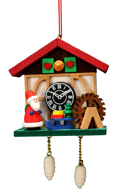 10-0566 Santa Cuckoo Clock