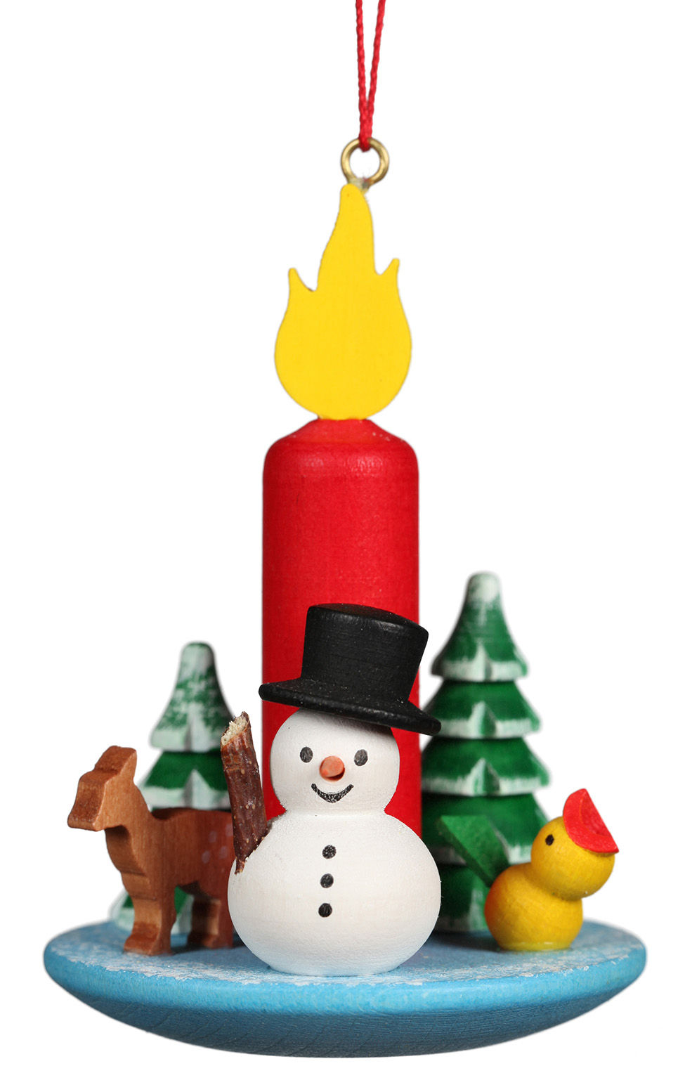10-645 Candle with Snowman