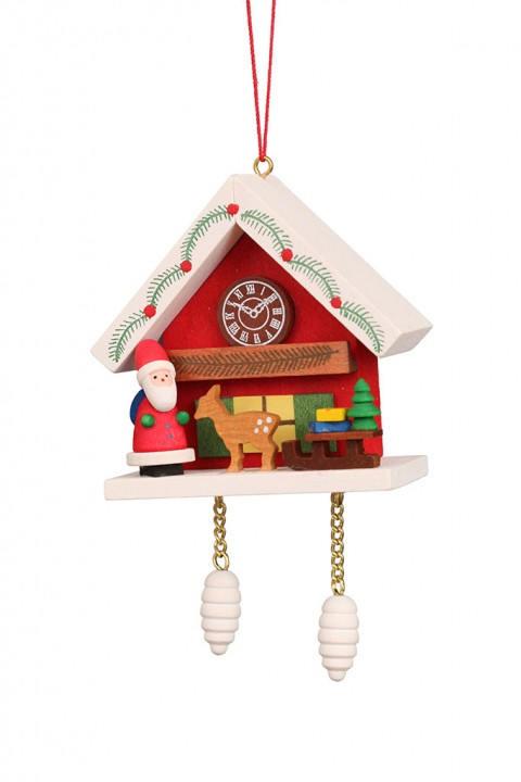 10-0467 Red Cuckoo with Santa