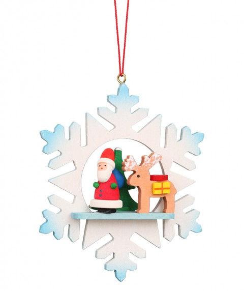 10-0551 Santa and Sled in a Snowflake