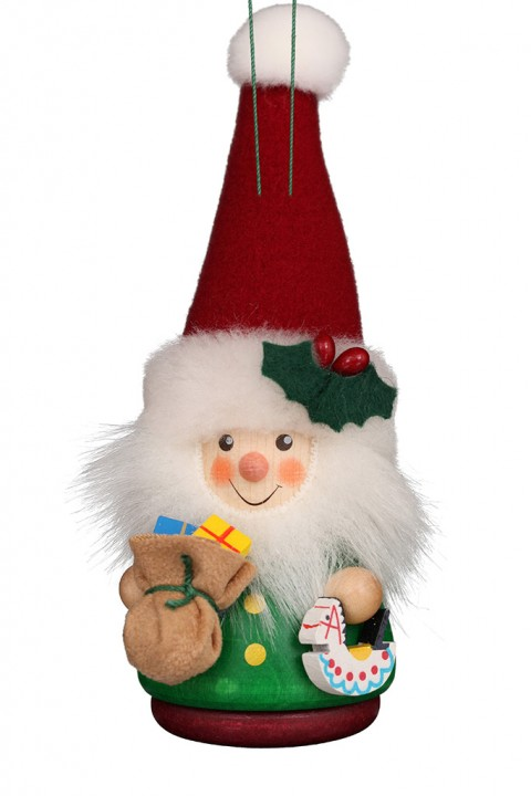 15-0423 Green Santa Ornament