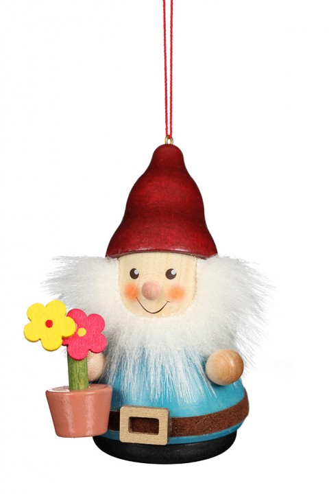 15-0431 Gnome With Flowerpot Ornament