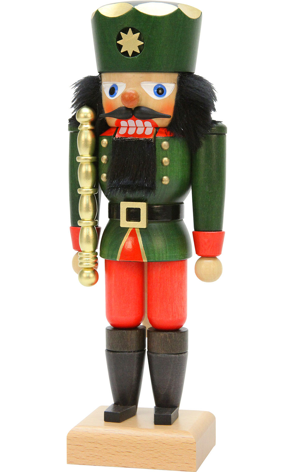 32-665 Nutcracker King in Green