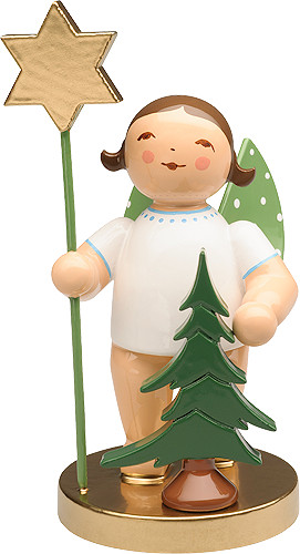 650-105 Angel with Spruce and Star